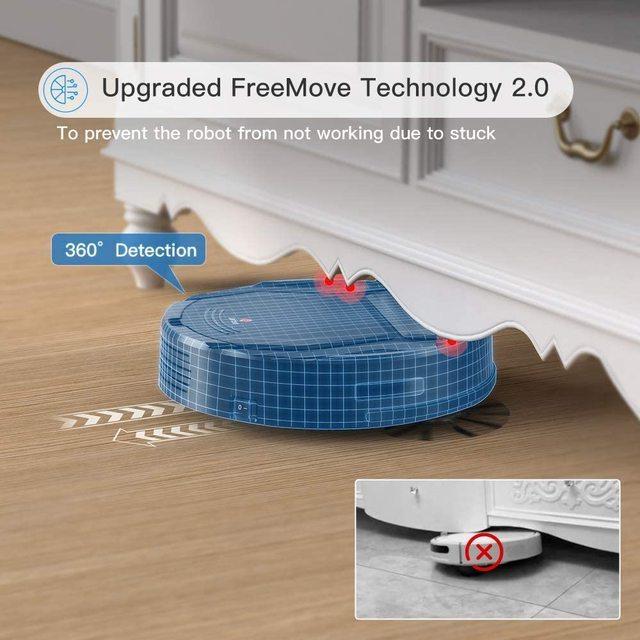 Lefant M201 Mini Robot Vacuum Cleaner For Home pet hair, hard floor, low pile carpets,super quiet 1800pa with WiFi/App/Alexa 5