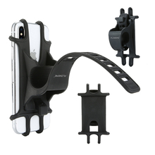 Bike Phone Holder Silicone Adjustable Pull Button Anti-shock Mount Bracket Fork For Bicycle
