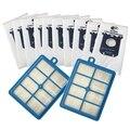 10 шт. пылесборники S-Bag и 2 шт. H12 Hepa фильтр для Philips электропылесоса Fc9084 Fc9130 Fc908