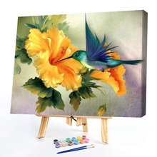 Acrylic Oil  Painting By Numbers Kit DIY Bird Honey Hand Painted Oil Picture Craft Decor  Hand Painted On Canvas Art Gift Home