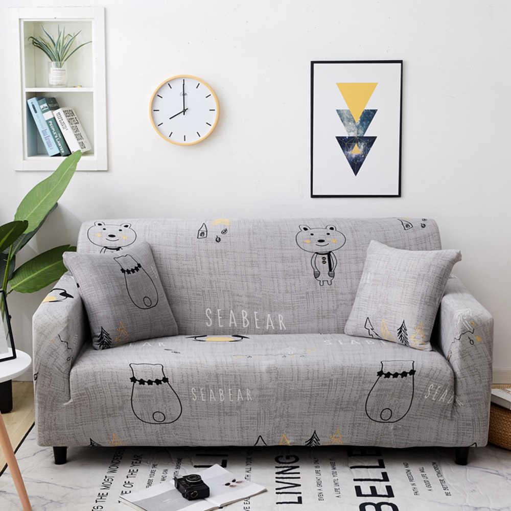 المطبوعة تمتد أغطية حامي البوليستر مرونة أريكة يغطي غطاء أريكة غطاء مقعد الذراع لغرفة المعيشة 1/2/3/4-مقاعد