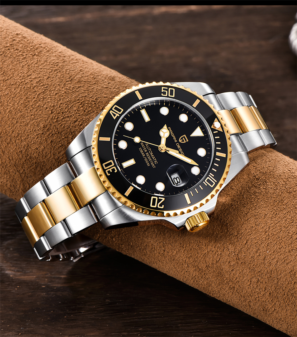 H7ec1d695ba4e4430863938f72a549f1aY PAGANI2019 Design Brand Luxury Men Watches Automatic Black Watch Men Stainless Steel Waterproof Business Sport Mechanical