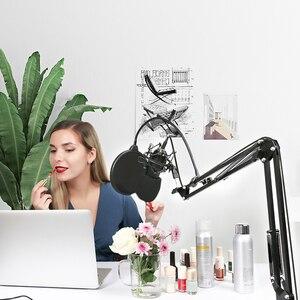 Image 5 - MAONO Mikrofon Suspension Boom Scissor Arm Stehen für Professionelle Podcast microfone AU B01
