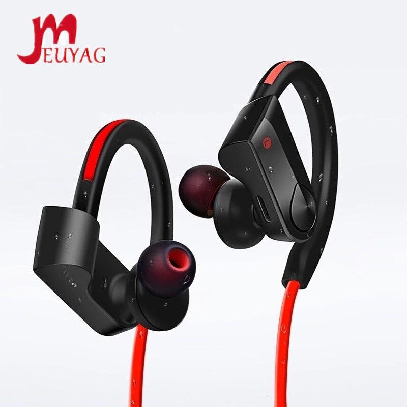 MEUYAG Bluetooth-наушники, Спортивные Беспроводные наушники с шейным ободом, стереонаушники, музыкальные наушники с микрофоном для iPhone, Android