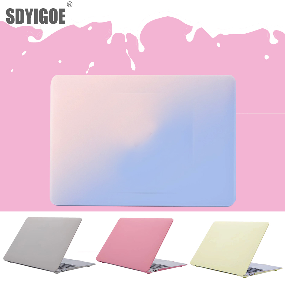 For <font><b>MacBook</b></font> pro13 Cases A2159 A1932 <font><b>A1502</b></font> A1398 A1466 A1278 for apple <font><b>macbook</b></font> air case Hard shell Cream color <font><b>cover</b></font> Laptop Cases image