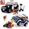 City Police SUV Patrol Car Model Figures Blocks SWAT DIY Creation Construction Building Bricks Kit Educational Toys For Kids