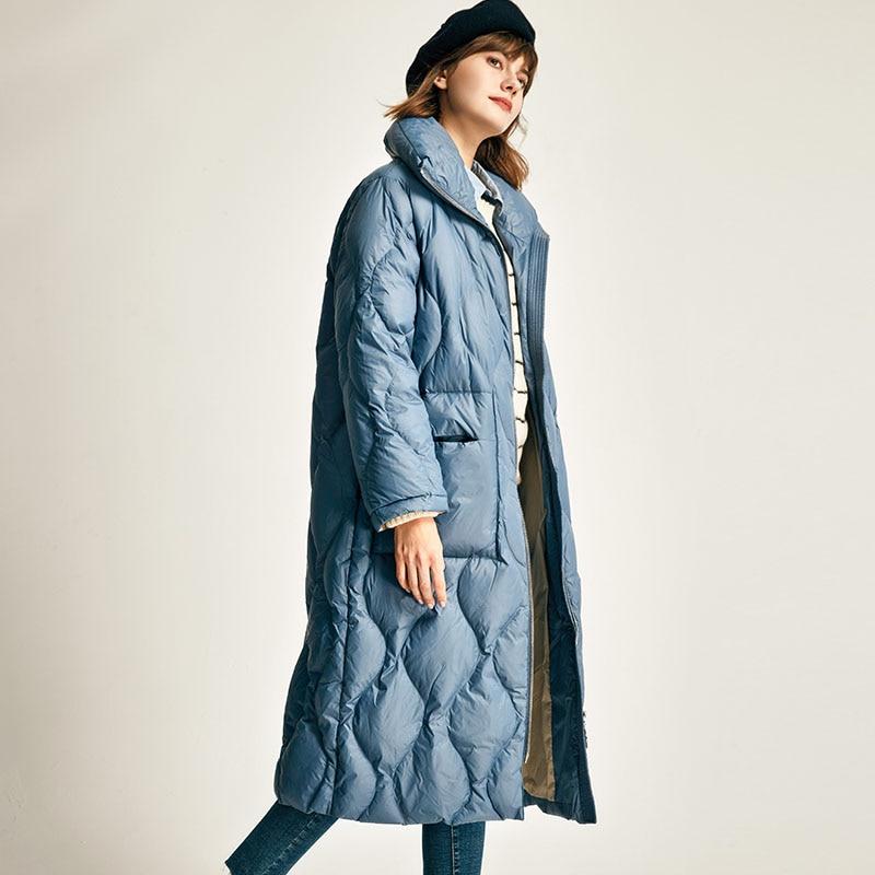 Winter Jacket Women 2019 Female Warm Ultra Light White Duck Down Jacket Women Loose Long Down Parka Windproof Women Down Coats