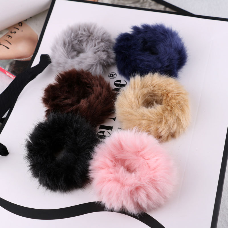 1PC Korean Autumn And Winter Style Pure Women's Ponytail Elastic Hair Bands Elegant Girls Hair Accessories HeadWear