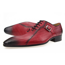 Wedding-Shoes Dress Shoe-Cow-Leather Printing Men Lace-Up for Sapato