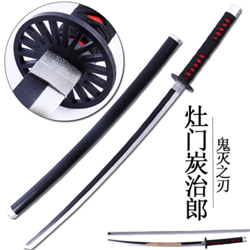 Kimetsu No Yaiba Sword Weapon Demon Slayer Satoman Tanjiro  Cosplay Sword 1:1 Anime Ninja Knife PU 104cm