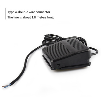 Foot Switch Nonslip Metal On The Control Panel 220V Plastic Shell Foot Pedal Switch Electric Power usb foot switch medical foot switch game foot switch usb foot button one switch