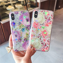 Case for iPhone XR iPhone 6 Floral Printed Clear Design Slim Back Case iPhone SE case 5s iPhone 6s plus case 5s 7 8 Plus XS MAX cheap TREEWOO Fitted Case Gloss transparent phone case Apple iPhones iPhone 6 Plus iphone xs iPhone 7 IPHONE XS MAX iPhone 5s