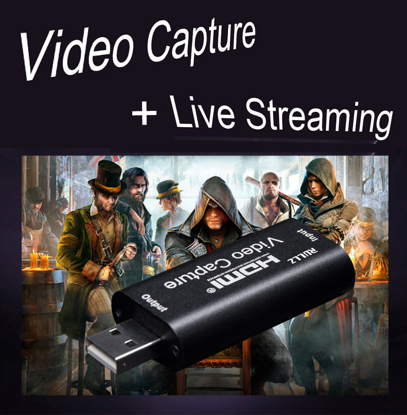 Mini 4K 30 INPUT 1080P 30 Capture USB 2.0 HD Video Capture Card HDMI Phone Computer Game Recording Box Live Streaming Broadcast