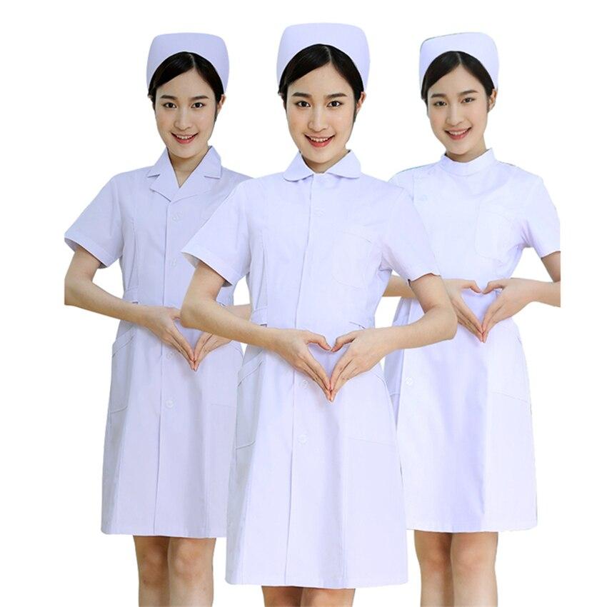 Nurse White Coats Medical Uniforms Surgical Scrub Work Wear Lab Coat Short Sleeve Women Scrubs Hospital Doctor Clothing