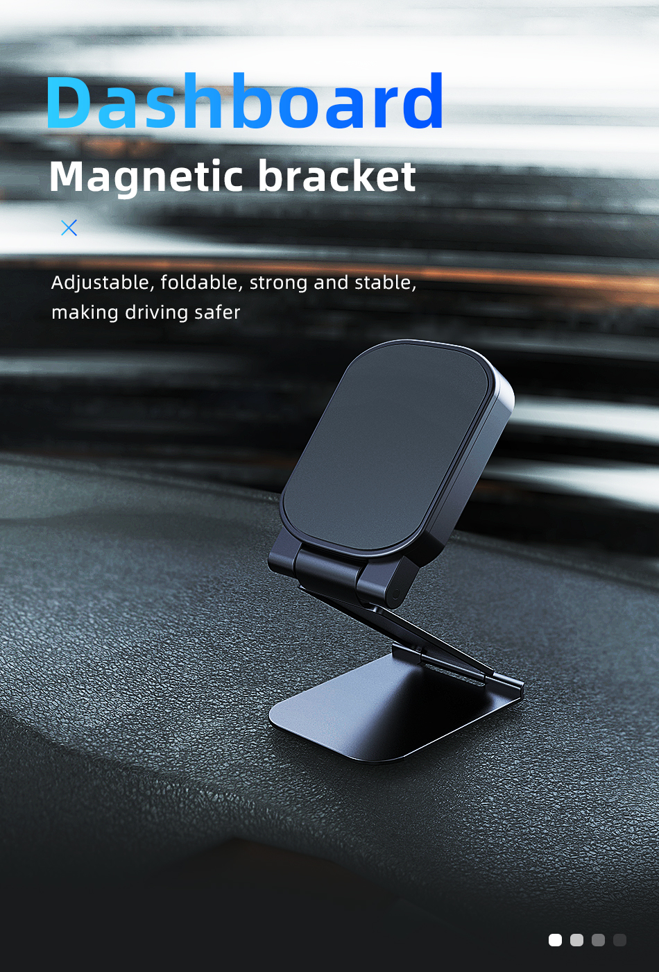 !ACCEZZ Car Magnetic Holder Phone Stand For 11 X Center Console Folding Adjustable Magnet Support Desktop Bracket (1)