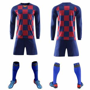 Image 5 - 2019 Long sleeve Children Sets football uniforms boys and girls sports kids youth training suits blank custom game soccer set