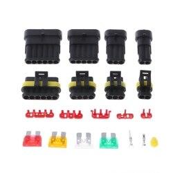 240 sztuk Superseal AMP/Tyco wodoodporny 12V złącza elektryczne zestaw 1/2/3/4/5/6 Way Pin
