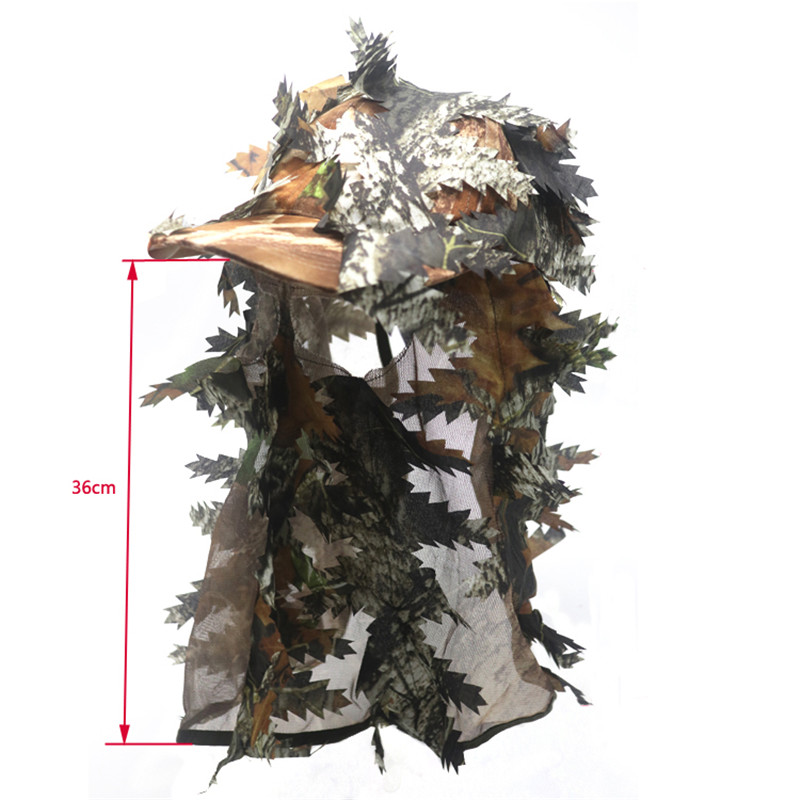 3D Stereo Camouflage Facial Mask Sheet Turkey Hunting Mask Hat Balaclava Full Forest CS Facial Mask Hot