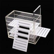 Контейнер для наращивания ресниц коробка хранения посылка акриловая
