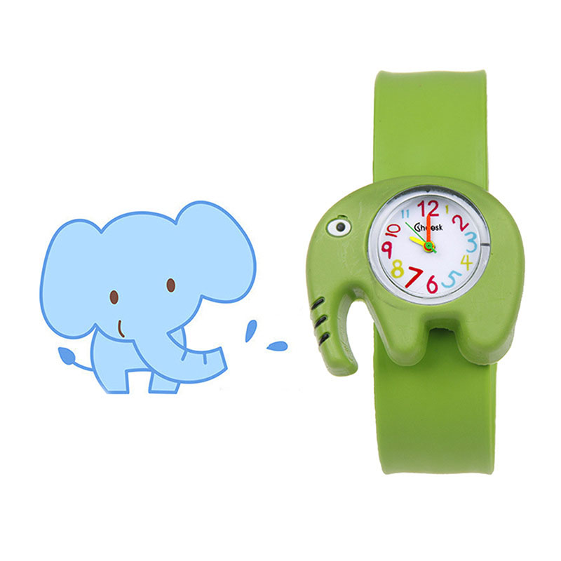1 Pcs Children Kids Wrist Quartz Watch Silicone Strap Cute Cartoon Style Fashion Birthday Gift S55