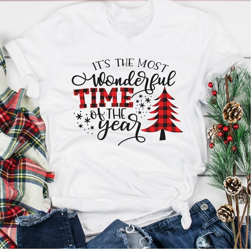 Merry Christmas Shirts Women Harajuku Christmas Tree Thanksgiving Tshirt Casual Print O-Neck 2019 Snow Deer Tee Japanese
