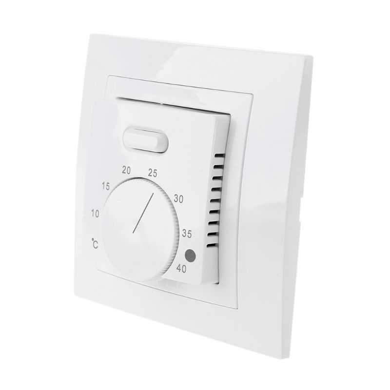 UnderFloor Electric Heating Room Thermostat 16A AC220~230V Save Energy Floor Heating Temperature Controller 86x86mm