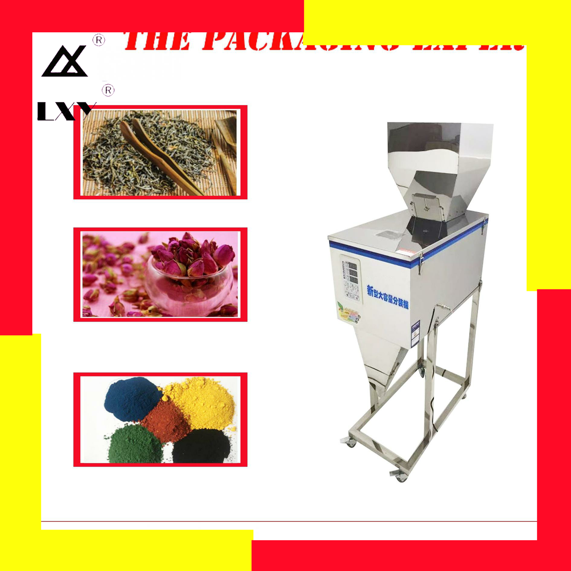 2500g Filling Weighing Machine Dog Pet Food Coffee Beans Grain Seed Rice Racking Chemical Fertilizer Wheat Flour Powder Filler