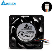 цена на For Delta TAA0412CD 40mm 40x40x20mm server fan 4020 12v 0.6A 4cm server inverter 18600RPM cpu axial blower cooling fan 4PIN
