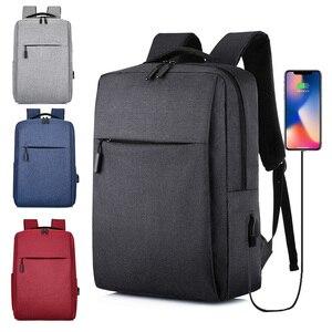 Image 1 - USB Backpack Mens School Bag Rucksack Anti Theft Men Backbag Travel Daypacks Male Leisure Backpack Mochila Women Girl Bag