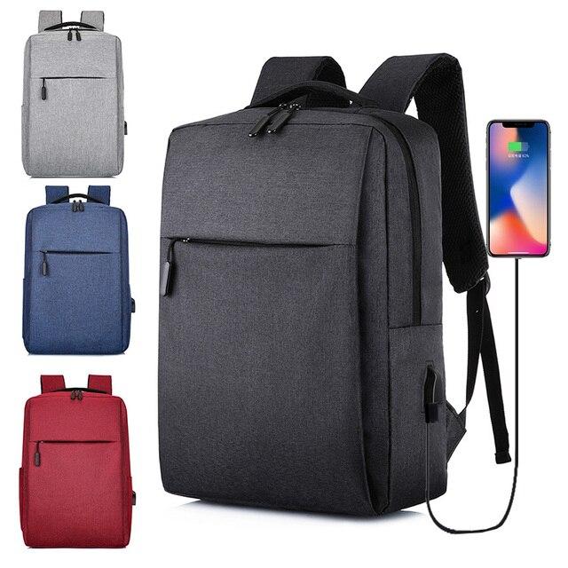 USB Backpack Mens School Bag Rucksack Anti Theft Men Backbag Travel Daypacks Male Leisure Backpack Mochila Women Girl Bag