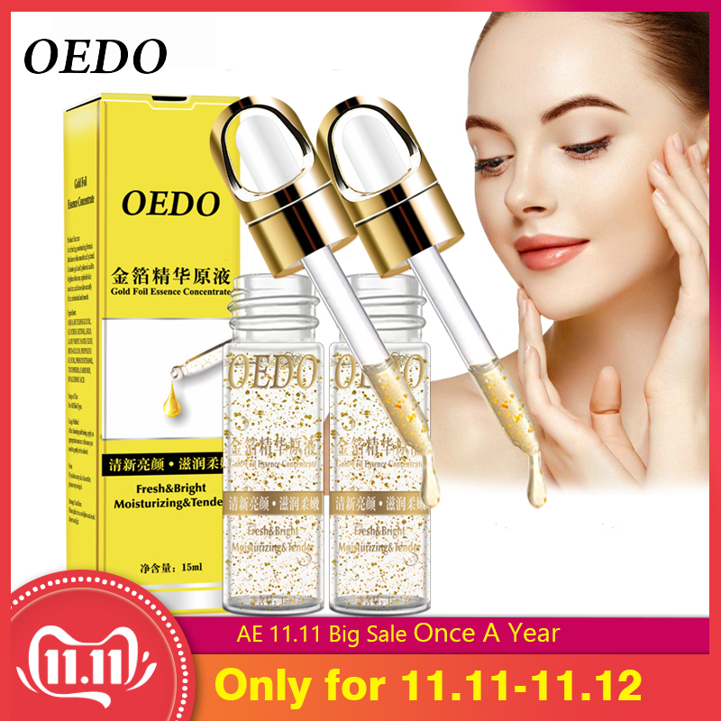 2PCS Shrink Pores Gold Hyaluronic Acid Liquid Moisturizing Face Serum Whitening Plant Skin Care Anti Aging Anti Wrinkle Cream