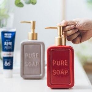 Image 4 - 470ML Liquid Soap Dispenser Ceramic Shampoo Hand Sanitizer Pump Bottle Kitchen Bathroom Accessories Outdoor Travel Bottle