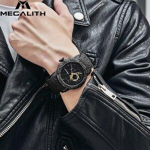Image 5 - MEGALITH moda złoty smok rzeźby zegarek mężczyzn zegarek kwarcowy zegarek wodoodporny Big Dial zegarki sportowe mężczyźni oglądać najlepsze luksusowy zegar markowy