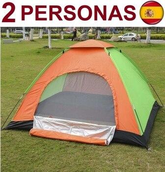 Tienda de Campaña PARA 2 personas, impermeable, acampada, OFERTA