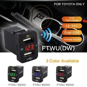 Akcesoria samochodowe wewnętrzny nadajnik samochodowy gps toyota corolla lokalizacja parkowanie samochodowa ładowarka 12V 24V podwójny usb monitorowanie napięcia Voltme