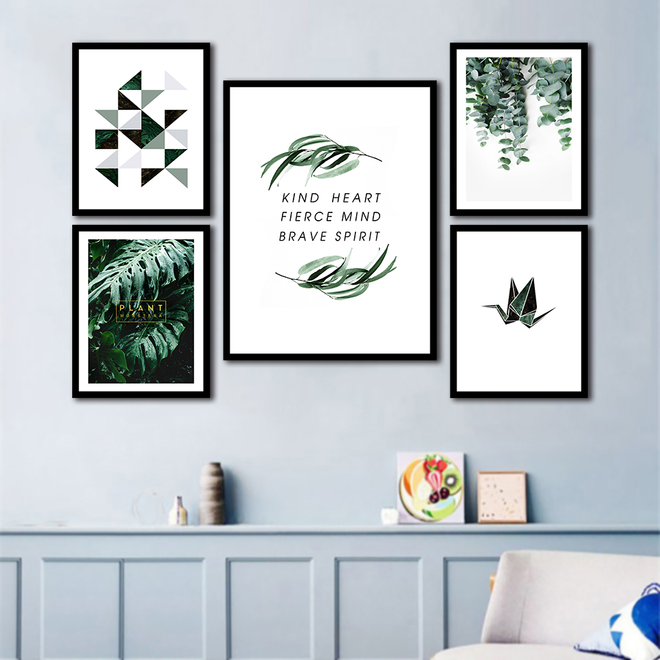 Abstract Tropical Vegetation Nordic Posters And Prints Wall Art Canvas Painting Wall Pictures For Living Room Decor
