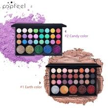 POPFEEL 29 Color Glitter Eyeshadow Warm Eye Makeup Galaxy Pa