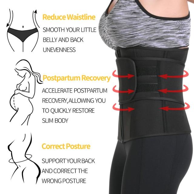 Waist Trainer Reducing Shapers Slimming Trimmer Belt Body Shaper Neoprene Tummy Shapewear 9 Steel Bones Woman Cincher Corset 3
