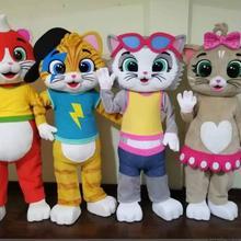 Горячая Распродажа изготовленный на заказ костюм кошки талисмана 44 кошки талисман костюм для взрослых