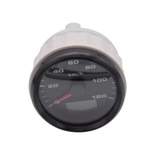 Image 3 - 120kmh/200Kmh Odometer 85mm Boat GPS Speedometer Truck Car Speedometer IP67 Waterproof GPS Gauge Meter Speed Odometers LCD Gauge
