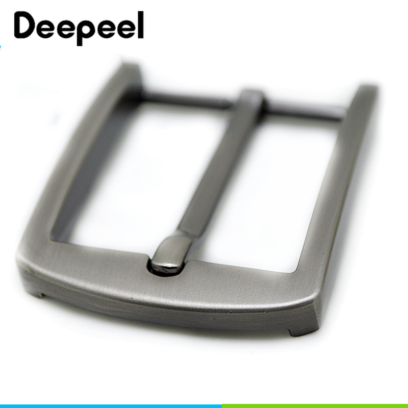 Deepeel 1pc 4cm Men's Zinc Alloy Solid Pin Buckle Head DIY Men's Belt Jeans Clothing Accessories Leather Craft Materials ZK1199