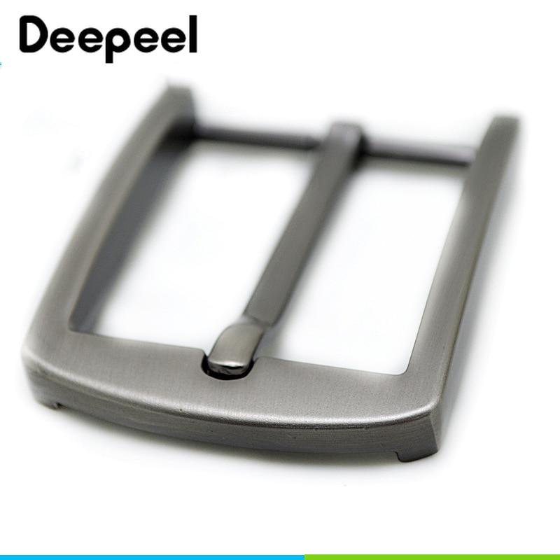 Deepeel 1pc 4cm Men's Zinc Alloy Solid Pin Buckle Head DIY Men's Belt Jeans Clothing Accessories Leather Craft Materials ZK1199