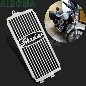 Chrome Motorcycle Radiator Grille Cover Protector Guards for Honda Shadow ACE VT400 VT750 1997-2003  Shadow Spirit 750 2001-2008 jenna ryan shadow protector