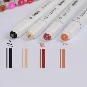 Image 2 - Маркеры touchfive 30/60/80/168 цветов, масляные спиртовые маркеры для рисования, кисть манга, ручка для анимационного дизайна, товары для рукоделия, Marcador