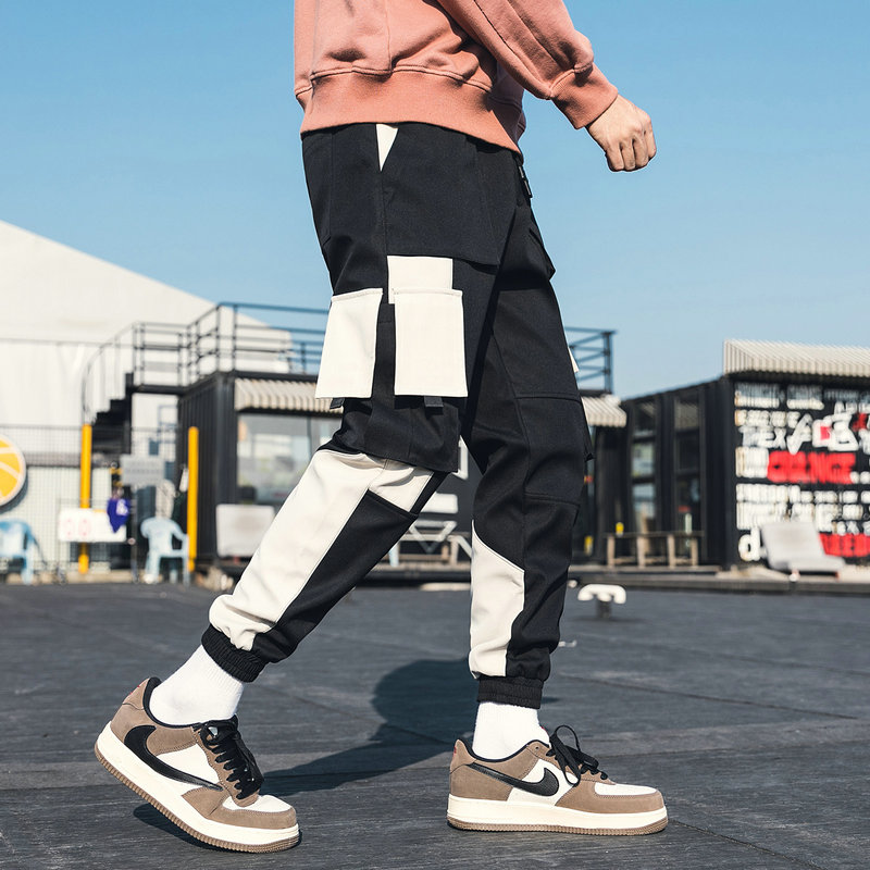 New Fashion Men Joggers Pants 2020 Mens Streetwear Patchwork Sweatpants Male Women Hip Hop Track Pants Black Trousers