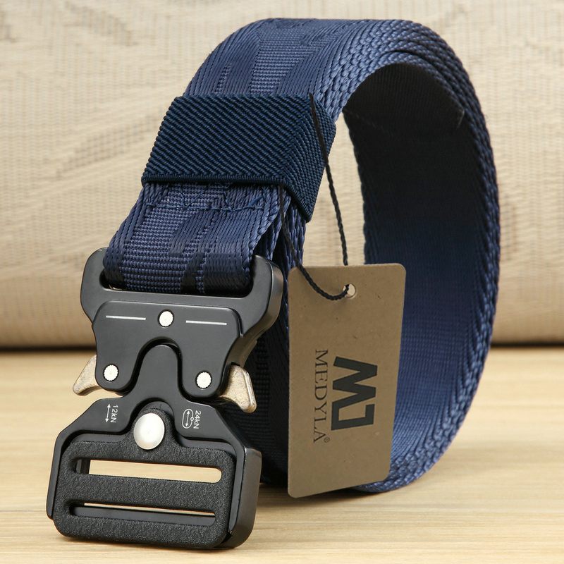 MEDYLA Hot Mens Tactical Belt Military Nylon Belt Outdoor Multifunctional Training Belt High Quality Strap Ceintures 3.8cm