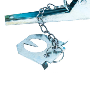 Image 4 - Trampa para topos galvanizada multifunción, Control duradero, fácil instalación, eliminador de tipo tijera, jardín, reutilizable, Color aleatorio