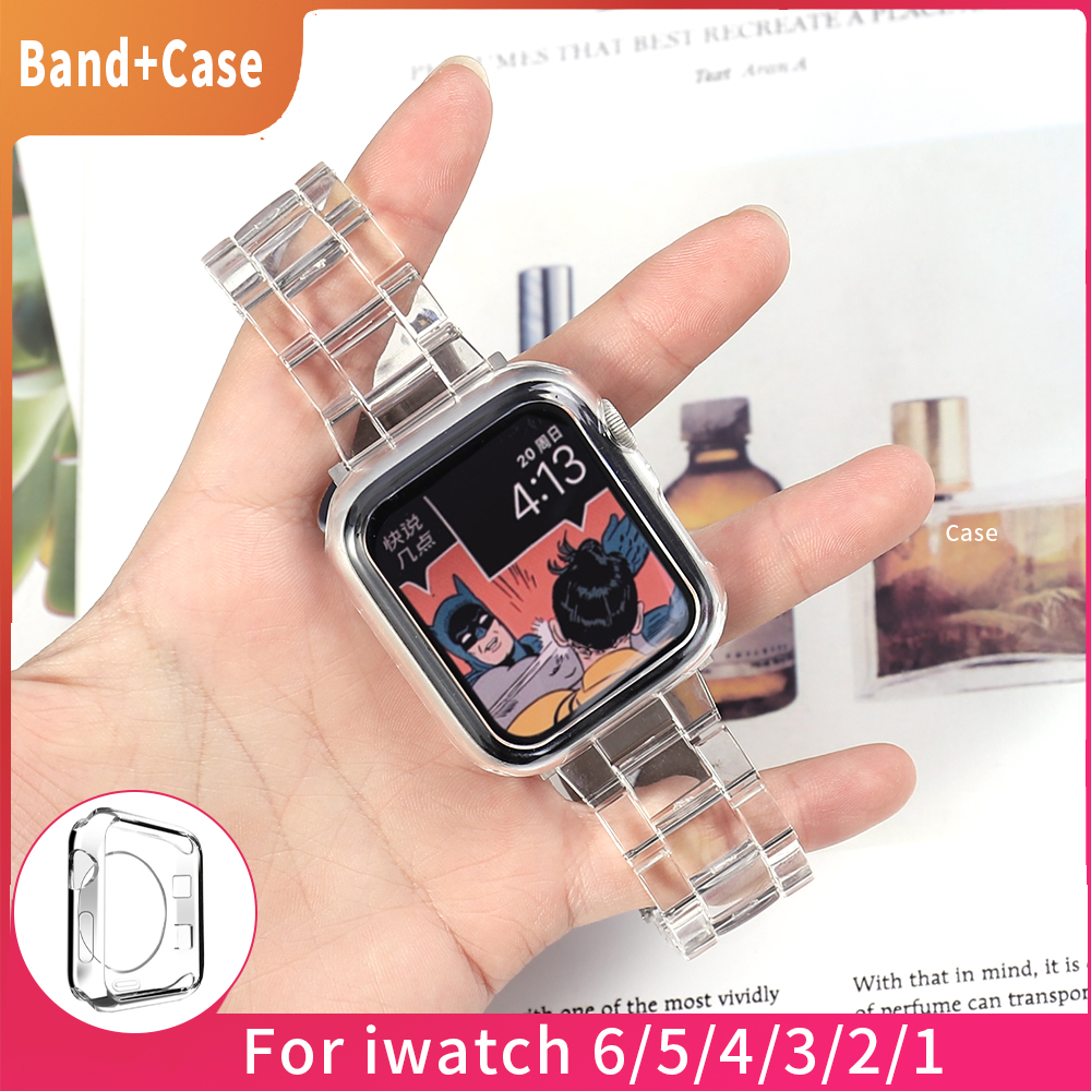 Newest Strap for Apple Watch Band Series 6 SE 5 4 321 Transparent for Iwatch bracelet 38mm 40mm 42mm 44mm Watchband accessories