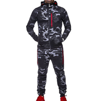 ZOGAA Men Track Suit 2018 Camouflage Jacket Camo Print Tracksuit Matching Sets Sportswear Hoodie Coat Pants Sweatsuit Military men s sets hoodie and pants sweatsuit male sportswear tracksuit men set 2019 brand sporting suit track sweat print alpha jackets