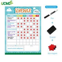 40x30 см, детская магнитная доска с сухим стиранием, магнитная доска с календарем, доска-Еженедельник для холодильника, дома, офиса Kichen